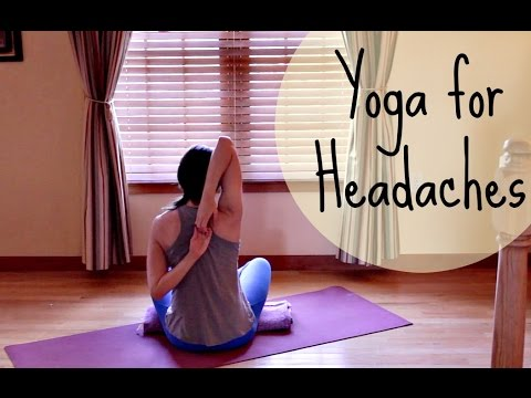 Yoga for Headache Relief - 10 Minute Yoga for Headache - Relieve Headache, Release Tension