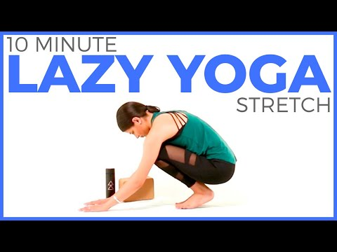 Easy Yoga Stretches (10 minute Yoga) Lazy Yoga Routine | Sarah Beth Yoga