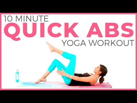 Power Yoga Workout 🔥 (10 minute Yoga) Quick Abs & Core | Sarah Beth Yoga