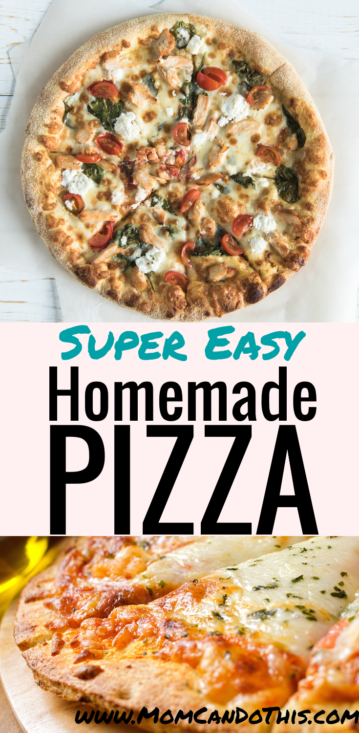 Easiest Pizza Dough Recipe Ever! Failproof homemade pizza dough. Print the pizza recipe for later and enjoy frugal homemade pizza. Foolproof pizza recipe to print for free.