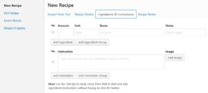 WP Recipe Maker editor wordpress recipe plugin