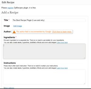 editor of ZIP recipes plugin wordpress recipe plugin