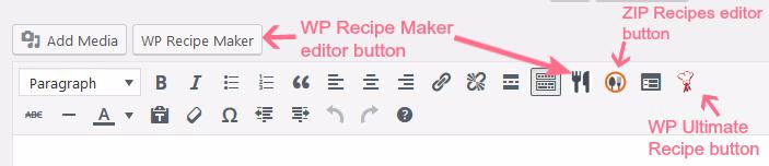 wordpress recipe plugins test