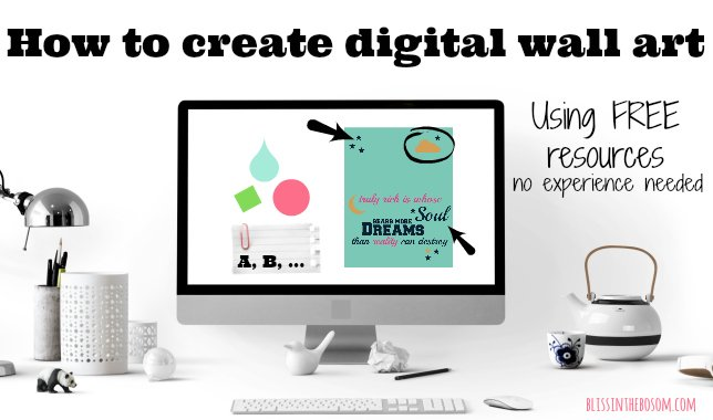 How to create beautiful digital wall art for free - no