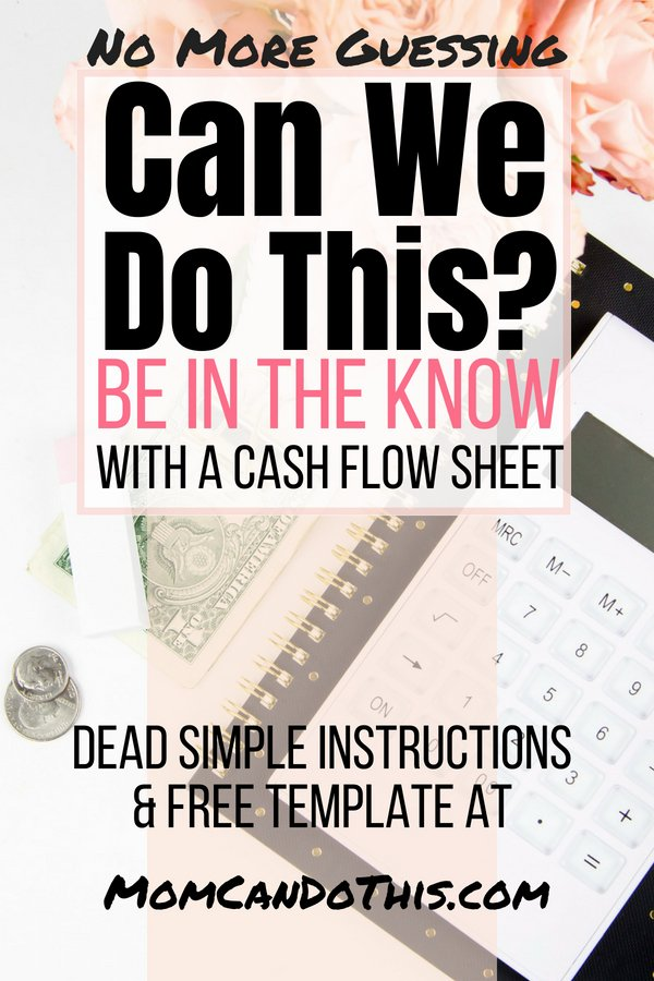 Finally an easy way to monitor cash flow on your bank accounts. Use a Personal cash flow tracker - this finance statement helps you to keep track of where your bank balance should be each day. Take control of your money! No more guessing, no more sweating. These instructions are foolproof. Download a free money management workbook to manage money like the CFO of your family! Full instructions at Mom Can Do This.