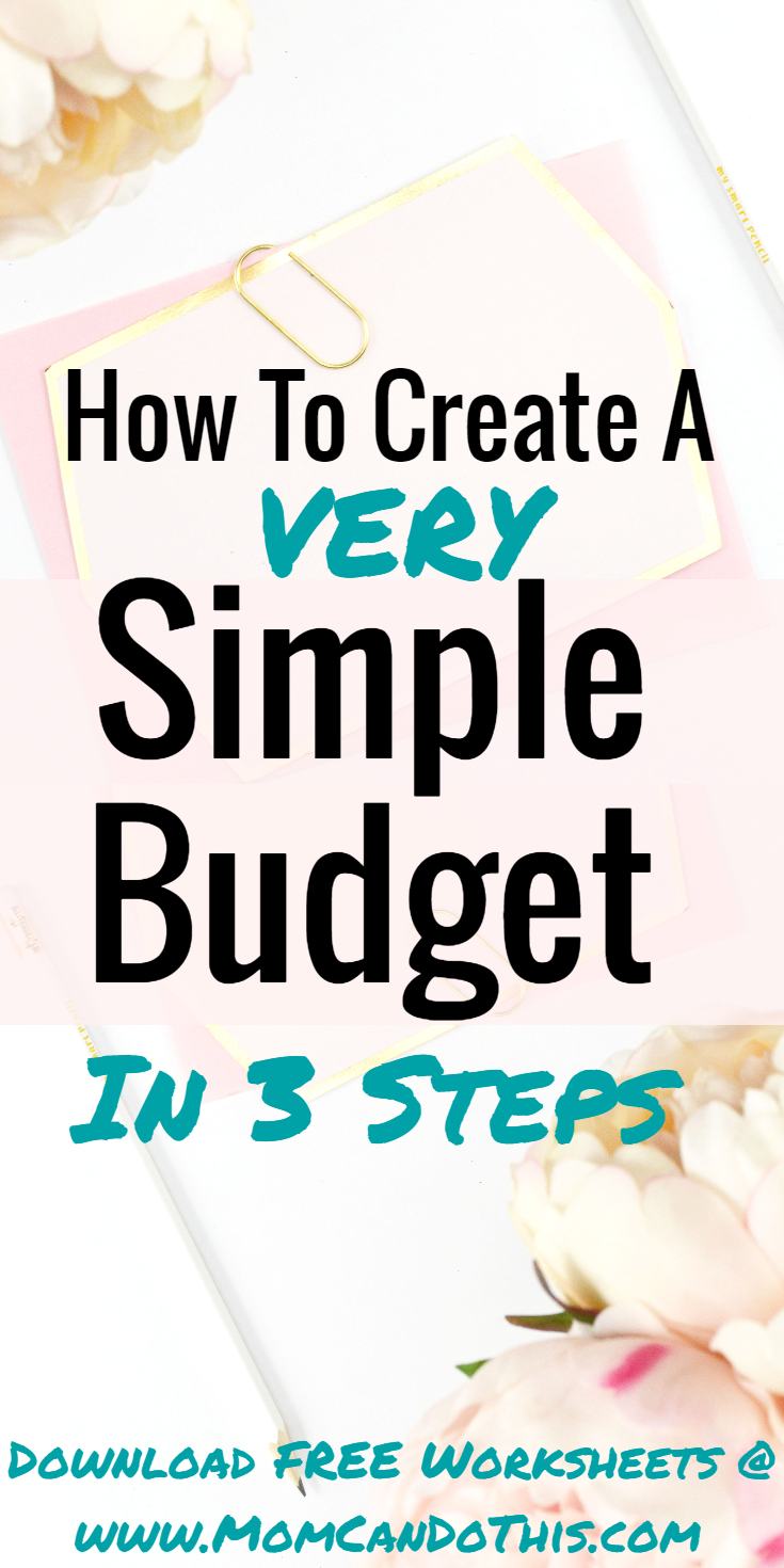 This is How To Make A Simple Budget in just 3 steps. Create a budget today with free worksheets. Click through to read full instructions to set up a basic budget.