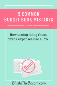 budget book mistakes