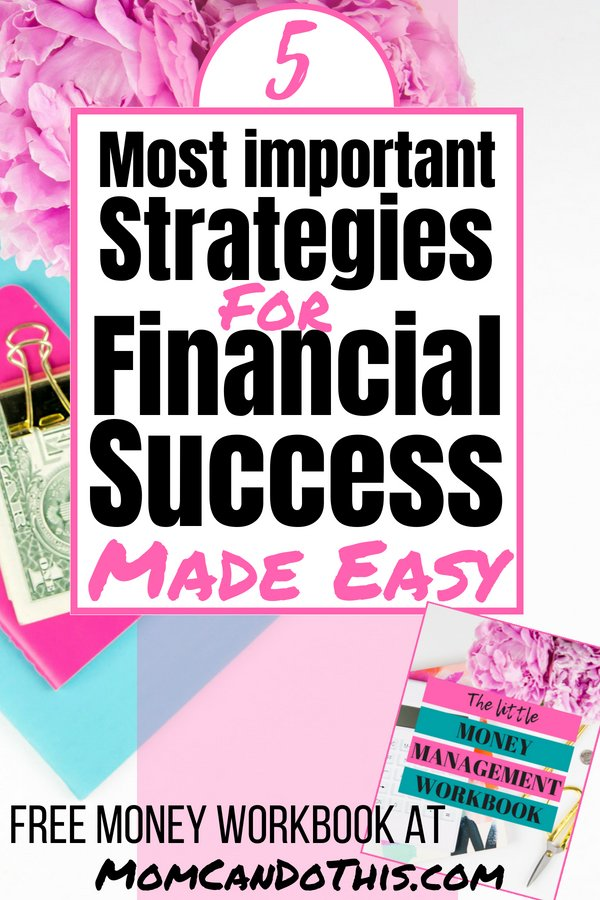 5 Smart And Practical Strategies on the Road to Financial Freedom! Jumpstart your personal financial planning and set yourself up for success. Learn how in this practical and easy to digest guide to managing your finances. Financial advice for financial planning like a CFO at Mom Can Do This! Grab a free workbook to start managing money well today.