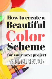 How to create a beautiful color scheme using free resources. For Non-Designers!
