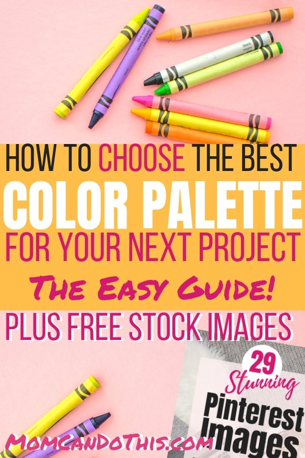 Great Tips on finding the perfect color palette! Make your own custom color palette or choose from color schemes ready-to-use. Click through to Mom Can Do This. Grab the free image bundle, too.