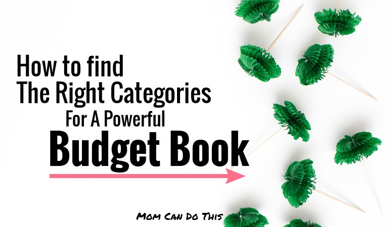 budget book categories