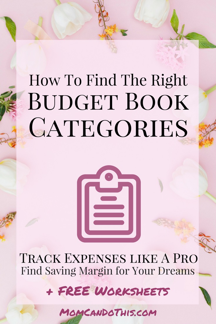 Finally Make Your Budget Book Work! Use the free worksheet to set up the right categories and toss out the weed. Make Your Budget Book A Powerful Asset To Rock Personal Finances.