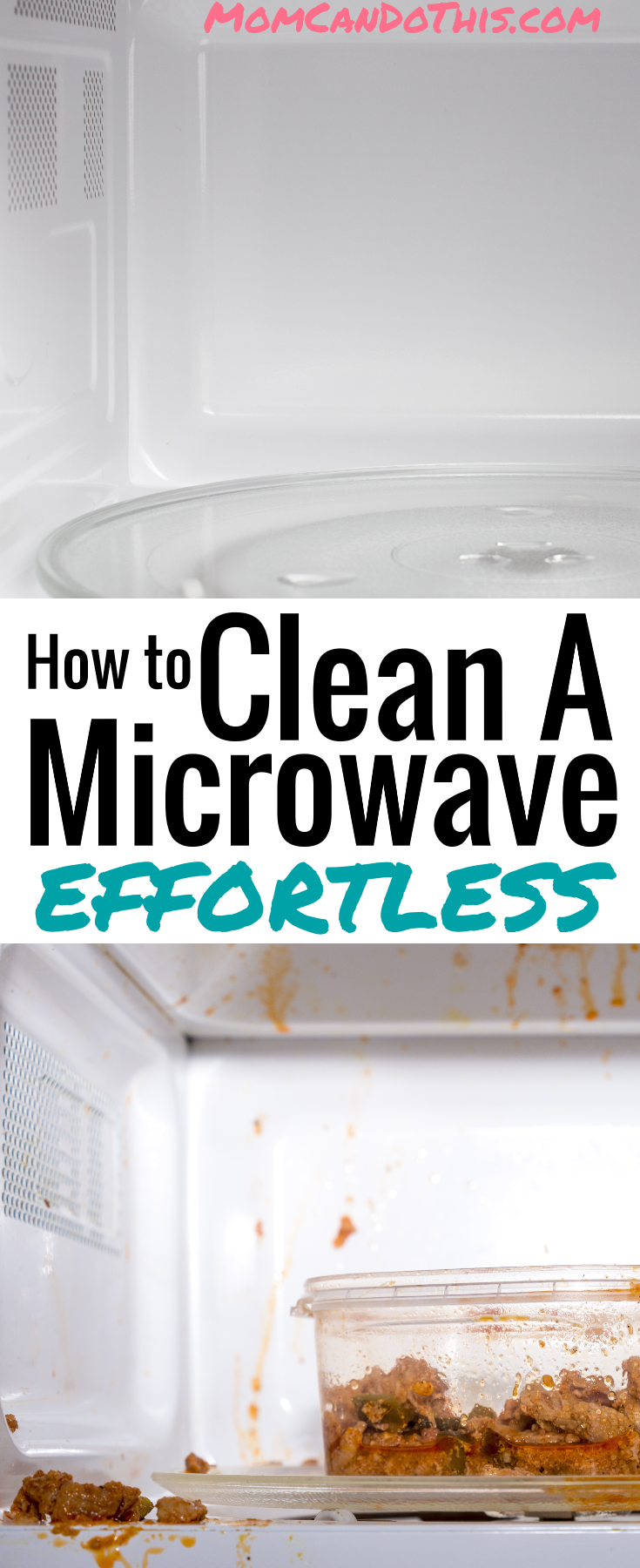 Awesome Cleaning Hack to Clean A Microwave! Let your filthy microwave clean itself with this super simple cleaning tip. Easy, frugal, all natural, time-saving. Click through to learn How!