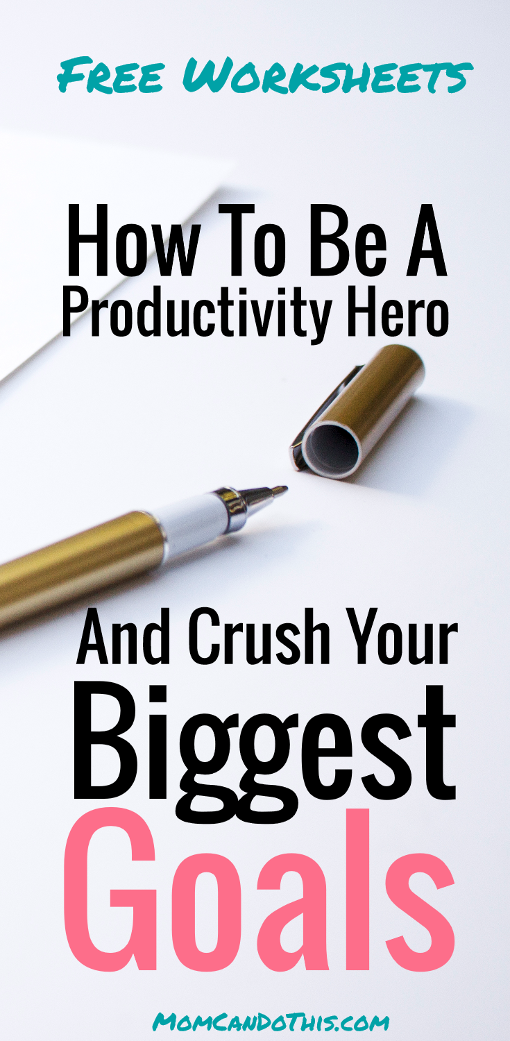 That is how to set goals like a productivity rockstar! Free Worksheets and productivity tips. How to set goals that you will accomplish! Productivity Tips for moms.