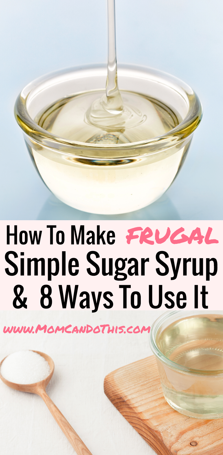 Easy Sugar Syrup Recipe. Use Sugar Syrup for Cakes or learn 8 yummy ways to use simple sugar syrup! Make a large batch. It will keep fresh for 3 months! Click through for a printable recipe and how to use homemade sugar syrup.