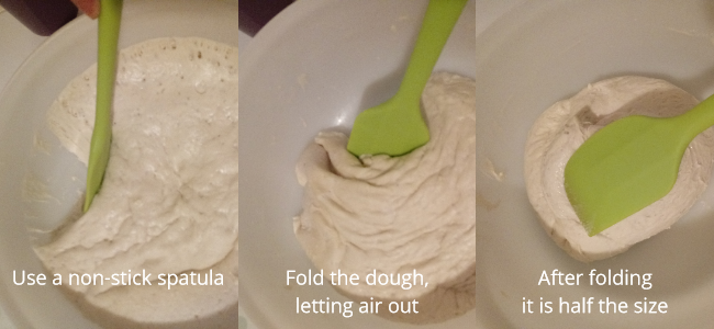making bread from scratch