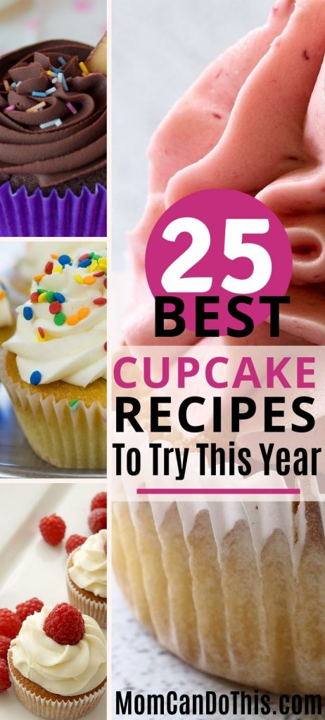 Cupcakes! 25 of the best cupcake recipes you just have to try. Find the perfect vanilla cupcake, chocolate cupcakes, new cupcake ideas, or festive birthday cupcakes. Try cute cupcake decorations and treat yourself with a sweet cupcake. Save for later reference now!
