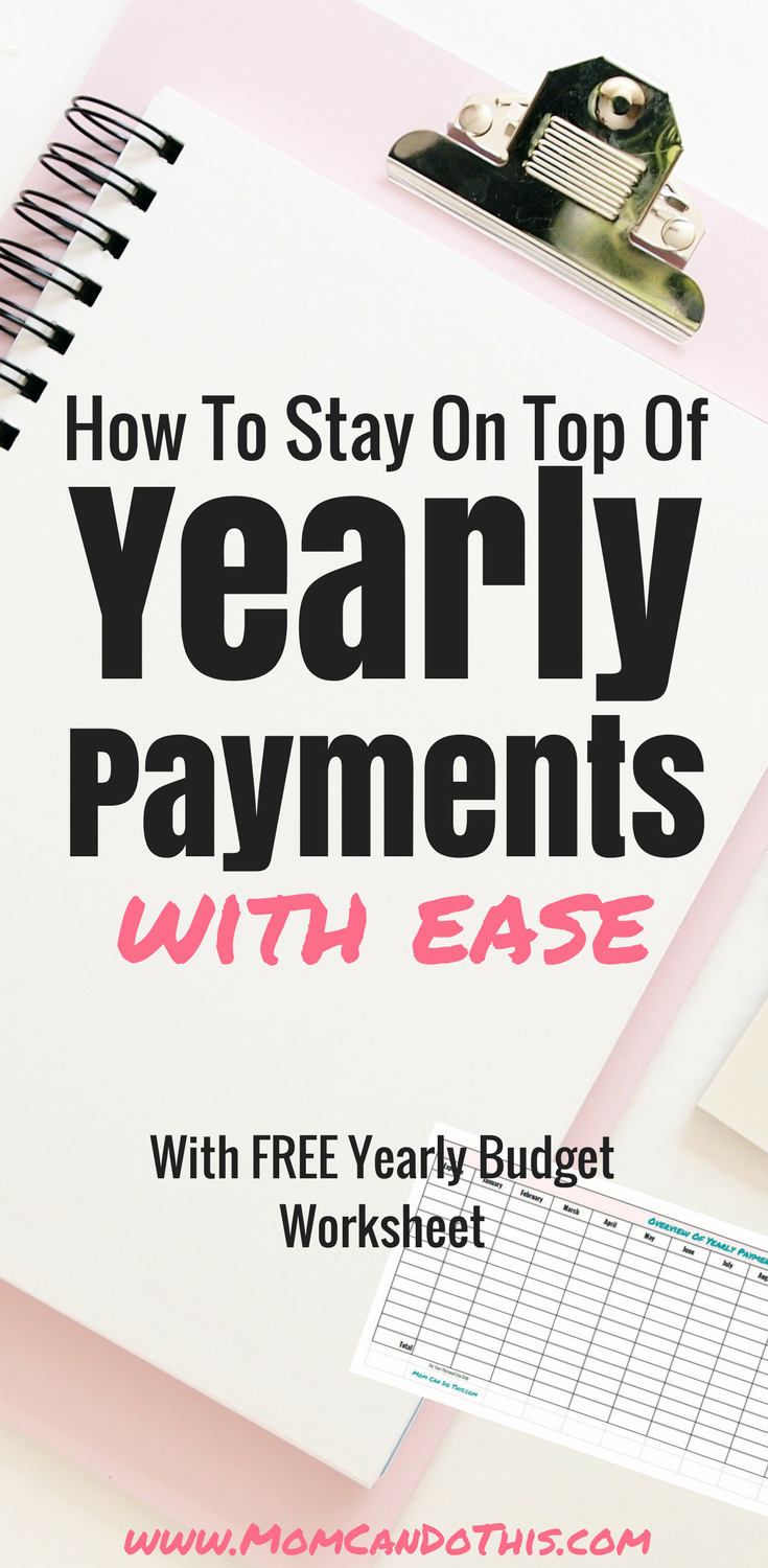 Stay on top of yearly payments with this FREE yearly payments tracker. Create a super simple yearly saving plan with the payment tracker template. Click through to read how and download your free copy of the yearly budget worksheet.