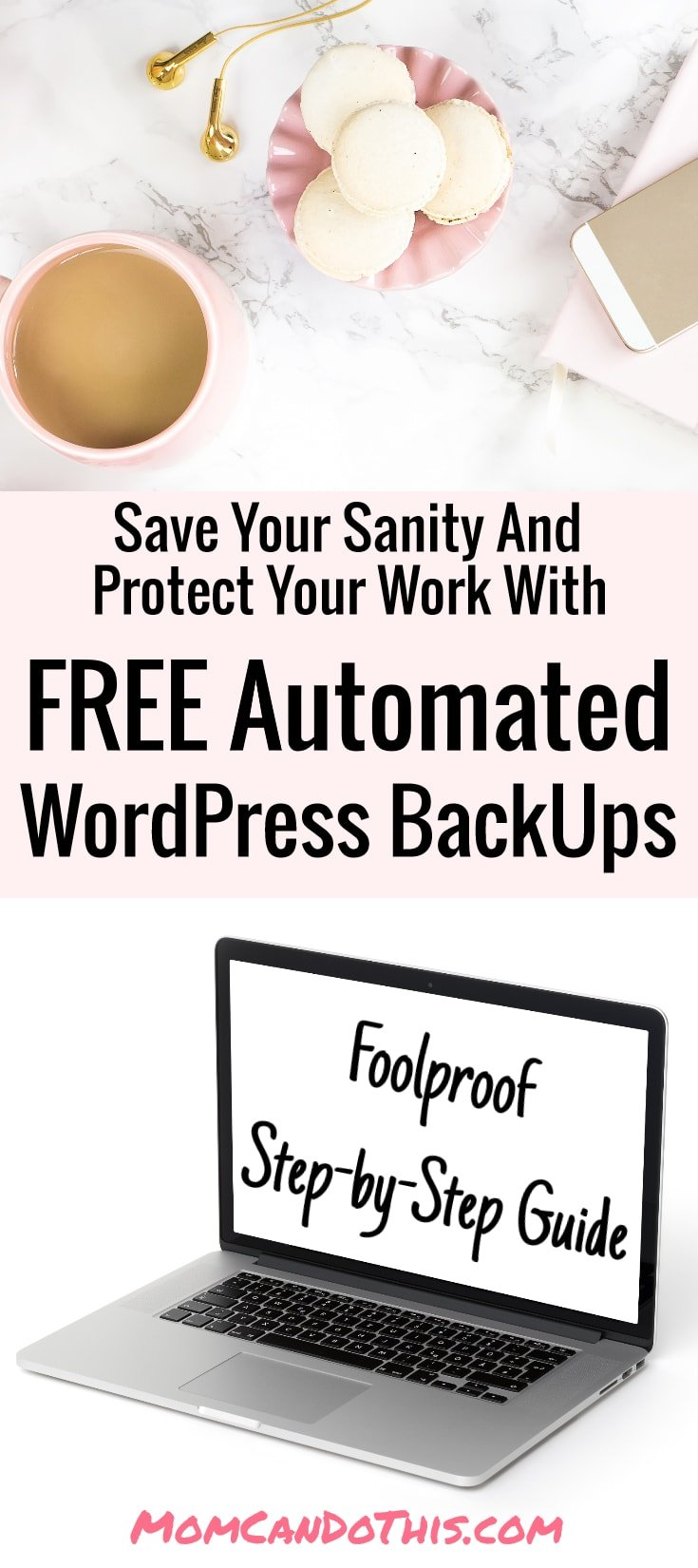 Super easy instructions to follow if you need blogging tips. Blogging for beginners is hard. Protect your work with WordPress Backups on Autopilot. Save this pin!