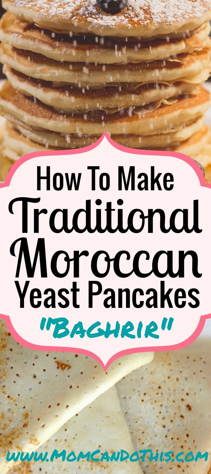 Baghrir Marocain Recipe! THE Traditional Moroccan Food, sweet, fluffy, drizzled with butter and honey! Too good to miss. Click through for a original recipe, a video, and a recipe printable!