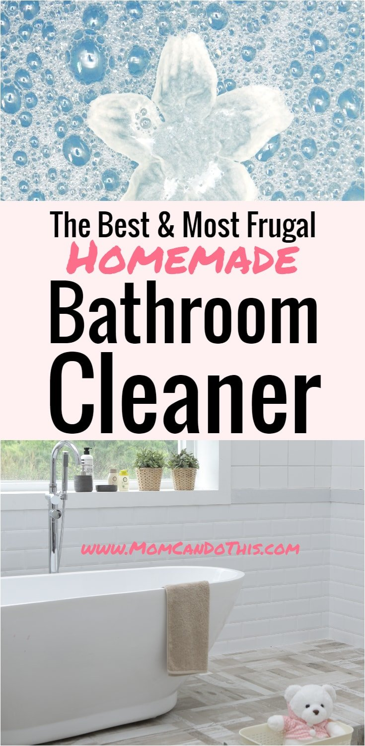 DIY Bathroom Cleaning and Bathroom Cleaning Hacks. Cleaning Tips and homemade bathroom cleaner recipe. Easy to use and frugal. Cleaner for bathtub, shower, tiles, and more.