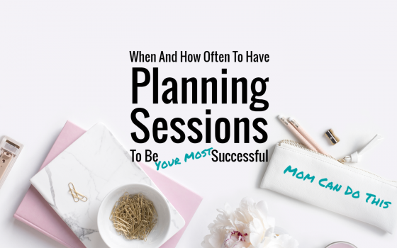 How often to have planning sessions to be your most successful