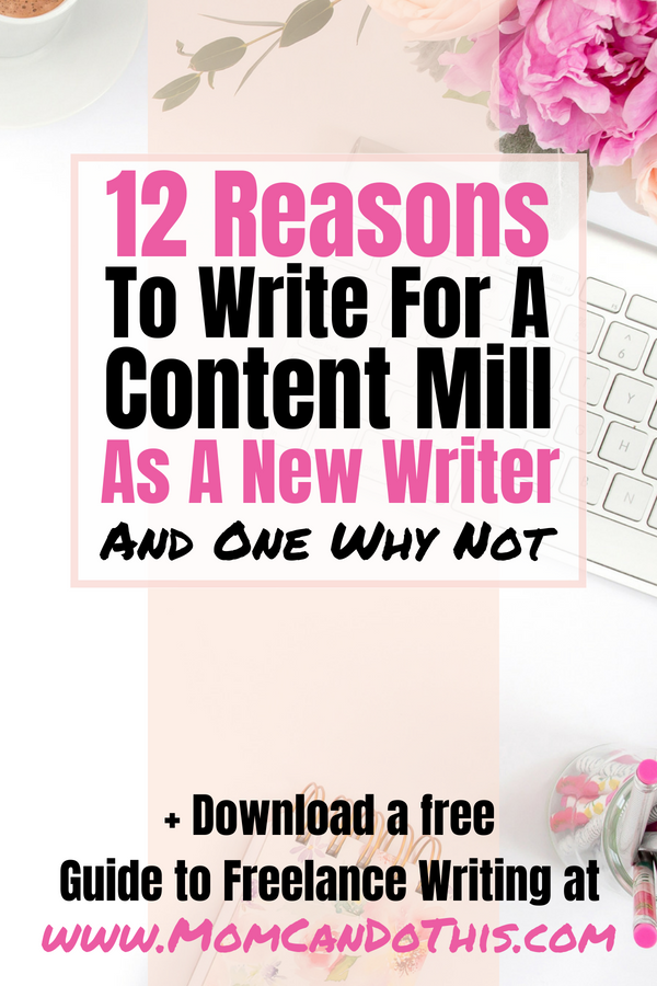 Why you should start making money today writing for a content mill! Learn how and why to write for money at Textbroker and such. Make your first money writing at home, get references, and thrive. Download a free 7-step-to-freelance-writing-Guide to start your freelance writing career from scratch!