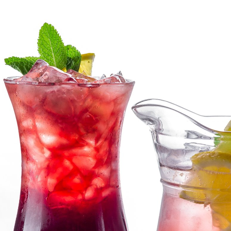 raspberry icetea mocktail - alcohol-free cocktail