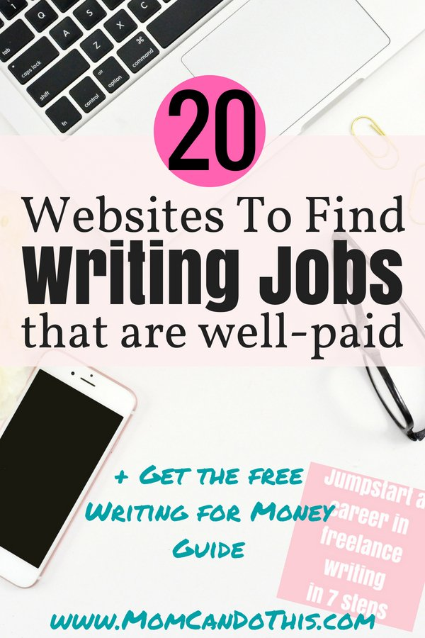 Great list of websites where you can find online writing jobs! I refer to these so often. How to find paid writing jobs? Go through these tips and find a writing job online today! Easy. Plus free guide for starting a career in freelance writing right now! Click through for the list of online writing job boards.