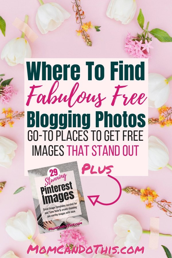 How to find the best free and premium stock photos! You need blog images that rock if you want to find success! Finding GREAT blogging photos is not always easy. Styled stock photos will make a huge difference in your blog. Check out my list of free stock photo resources for female bloggers. Stand out using stunning free stock photos. Grab the free Pinterest-ready photo bundle at Mom Can Do This now!
