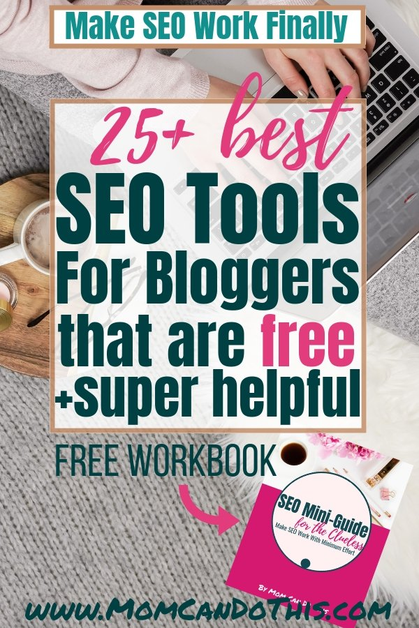 Best FREE SEO tools & resources to make search engine optimization a breeze and get tons of search engine traffic. Free SEO Workbook for subscribers included at Mom Can Do This. Learn how to do keyword research for free and how to optimize on page SEO with free SEO tools for bloggers. Great SEO Tips!