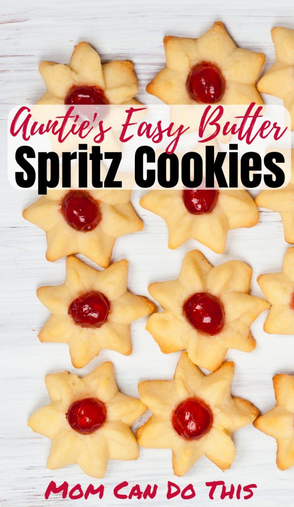 Buttery Spritz Cookies Recipe from Germany! The best easy recipe for buttery German Christmas cookies! This is my family's favorite but you can easily create yours with these spritz cookies ideas even without press. Print the recipe at MomCanDoThis.com now! Save this pin for later.
