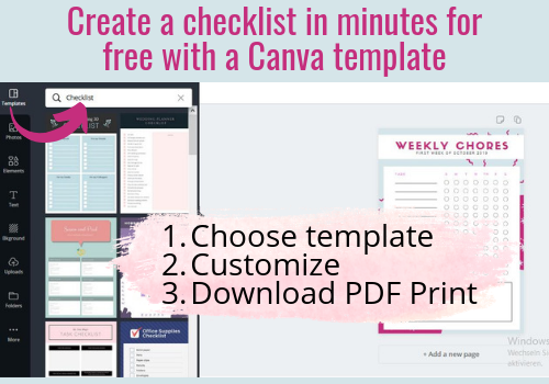 Canva Screenshot - Checklist Creation for email List-building